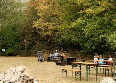 29 - Trotz großer Besucherzahl gibts im Garten noch Ecken zum Ausruhen