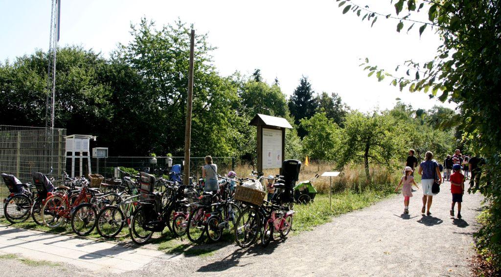 Viele sind umweltfreundlich mit dem Rad gekommen